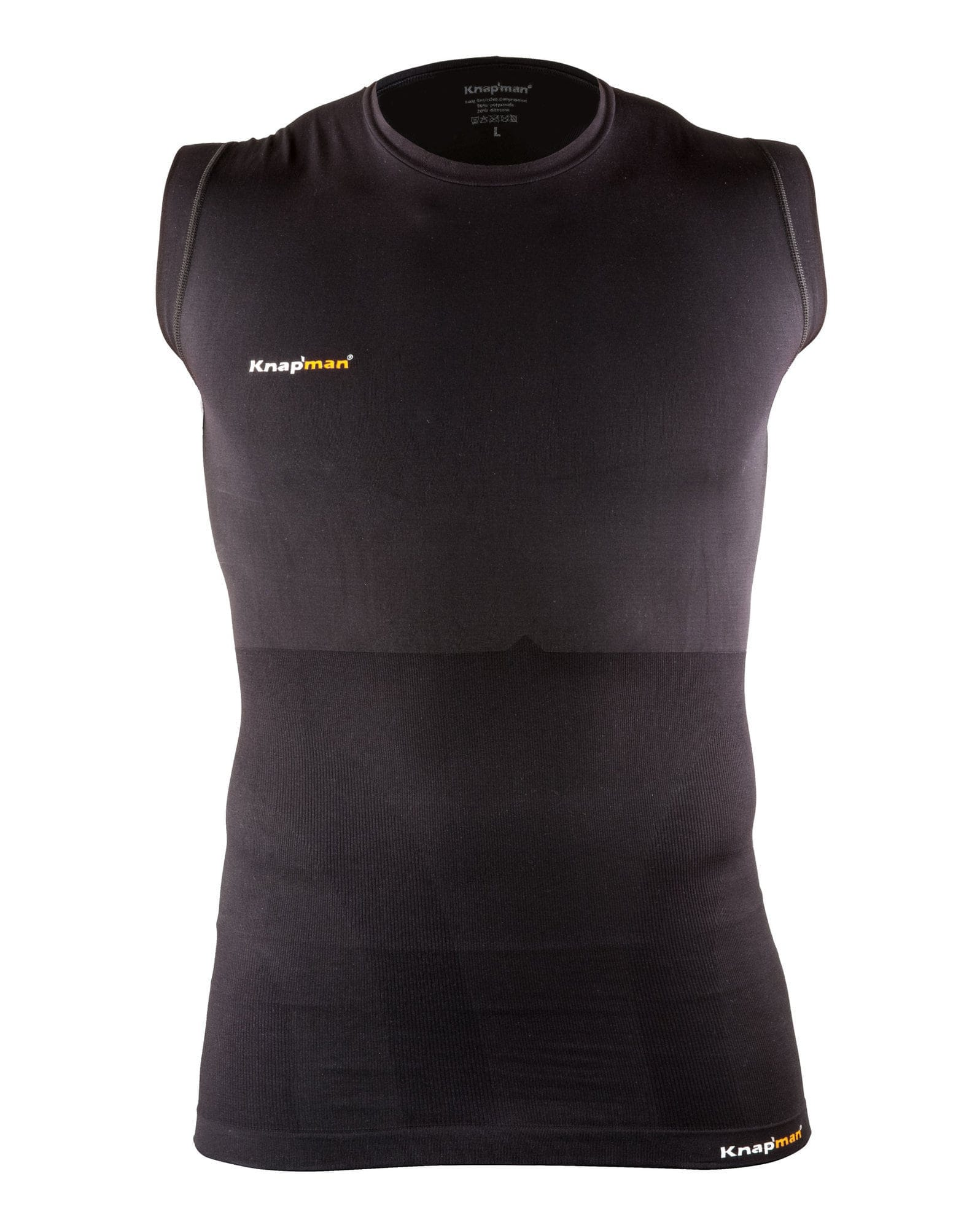 Knap'man Sleeveless Compressieshirt zwart
