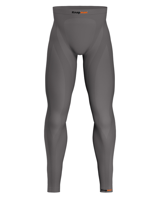 Knap'man Zoned Compression Pants Long 45% grijs