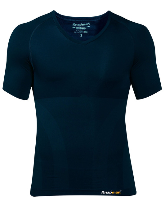 Knap'man Compressieshirt v-neck 2.0 navy blue